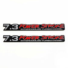 7.3 PowerStroke Intercooled Turbo Diesel Truck SuperDuty Chrome Emblems - Pair