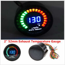"2"" 52mm Digital 20 LED Exhaust Temperature Gauge EGT With Sensor For Car Truck &"