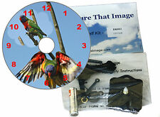 DIY CD Clock Kit ,Parrots, A Colourful Gift for all Bird Lovers