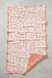 Anthropologie Mae Towel Collection Bath Coral