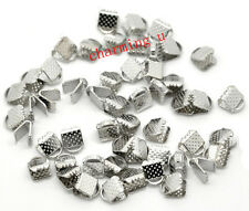 30pz coprinodo terminale 8x6mm nikel free color argento tibet