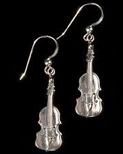 Sterling Silver Violin Earrings