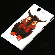 SONY Xperia Z Hard Case Handy Schutz Hülle Etui Cover Schleife Eule Owl  Schale