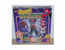 """SPIDERMAN MARY JANE HOLIDAY SPECIAL TOYBIZ 5"""" TALL ACTION FIGURE SET"""