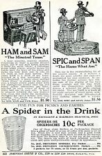 1926 Print Ad of Ham & Sam Minstrel Team Spic & Span Negro Toy Black Americana