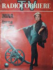 "RADIOCORRIERE TV N°33 AGO.1961 ""  MINA TORNA ALLA TV ""  BONIPERTI -  MASPES"