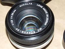 Minolta MC Rokkor PF 1: 1.9 f 55mm Very good condition caps & Soft Case