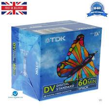 5 TDK DVM60 LP:90 60 Minute Blank Tape Cassettes for MiniDV Camcorders BRAND NEW