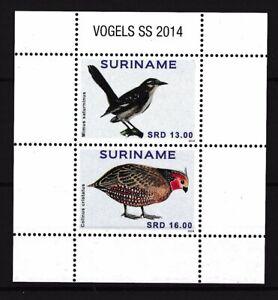 [SU2084] Suriname Surinam 2014 Birds Souvenir Sheet MNH