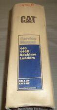 CAT CATERPILLAR 446 446B BACKHOE LOADER SERVICE SHOP REPAIR MANUAL BOOK 5BL 6XF