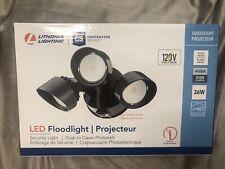 Lithonia Lighting LED Floodlight 3 Head Dusk Dawn 120V 3100 Lumens Cool White