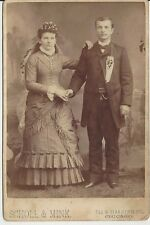 Vintage Wedding Photo Cabinet Card Chicago IL 2