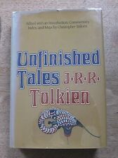 UNFINISHED TALES by J.R.R. Tolkien - 1st/1st 1980 HCDJ - middle earth Hobbit MAP