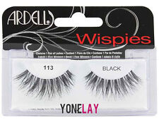 Lot 4 Pairs ARDELL 113 Wispies False Eyelashes Fake Eye Lashes Black Wispy