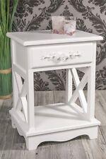 Beistelltisch Nachttisch Farbe Weiß Rose Landhaus *433