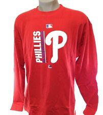 Mens Majestic Philadelphia Phillies MLB Auth Coll Baseball Long Sleeve Tee Shirt