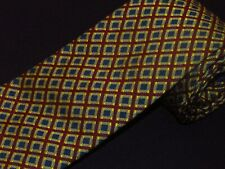 New Drakes Tie Maroon Gold Check Plaids  Made In England Barneys New York Woven