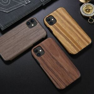 Case For iPhone 11 XR XR 7 8 Luxury Real Wood Wooden Slim TPU Back Cover Bumper