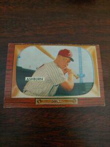 1955 Bowman Richie Ashburn baseball card #130 Philadelphia Phillies VG