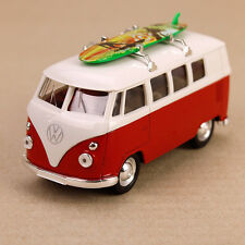1963 T1 Kombi Volkswagen Hippy Van Combi Die-Cast Model Bus Surfboard 11.5cm Red