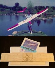 130 in. wing span BORNE FREE R/c Glider Plane short kit/semi kit and plans