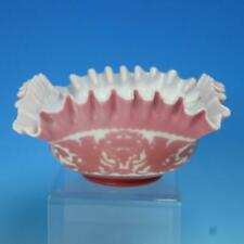 Cameo Glass - Pink and White - Griffin Design - Brides Basket Bowl