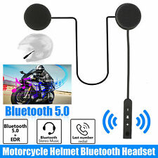 Bluetooth 5.0 Helmet Motorcycle Headset Speakers Handsfree Mic Rechargeable US