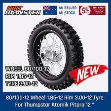 "80/100-12 Wheel 1.85-12 rim 3.00-12 Tire/Tyre for Thumpstar Atomik Pitpro 12 """