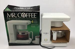 Mr. Coffee 4-Cup Coffee Machine Automatic Drip Coffee Maker White Model TR 4 AA