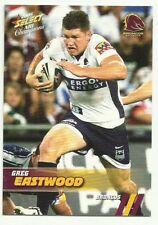 2008 NRL SELECT CHAMPIONS BRONCOS GREG EASTWOOD 5 COMMON BASE CARD FREE POST