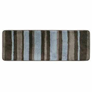 mDesign Striped Microfiber Polyester Rug, Non-Slip Spa Mat/Runner - Brown/Gray