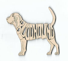BloodHound Dog laser cut and engraved wood Magnet
