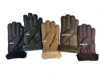 Womens Genuine Sheepskin Leather Gloves