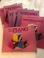 Lot of 7 - Bastien Piano Basics Teaching Books - Primer Level & Level 1