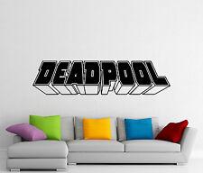 Deadpool Word Logo Wall Decal Superheroes Vinyl Sticker Comics Art Decor 433z