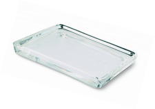 Bolsius Rectangle Candle Plate, Glass, Clear