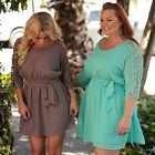 Plus Size Womens Chiffon Short Mini Dress Summer Evening Party Beach Sundress AU