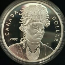 2007 Canada $1 dollar silver proof coin w/ box & COA