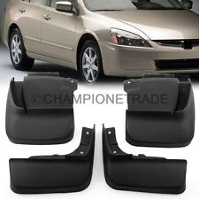 US Black Mud Flaps Flags Splash Guards Kit for 2003-2007 Honda Accord 7th Gen CT