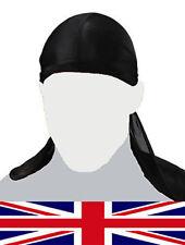 Durag Bandana Sports Du Rag Headscarf Head Rap Bike Polyester Plain Cap Fits All