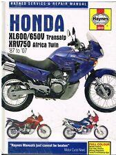 HONDA XL600V / XL650V TRANSALP & XRV750 AFRICA TWIN '87-'07 REPAIR MANUAL *NEW*