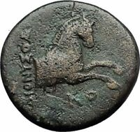 KOLOPHON in IONIA Genuine 360BC Apollo Horse Authentic Ancient Greek Coin i59673