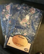 """SET OF 6 TOWN AND COUNTRY LINEN PRETTY FLOWERED CLOTH NAPKINS 18"""" SQUARE NEW"""