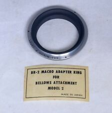 Vintage NIKON F BR-2 Macro Adapter Ring for Bellows Attachment Model 2 Japan