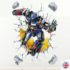 3D Transformers Optimus Prime Wall Sticker Art Decalcomania In Vinile Camera Da Letto Smash Ragazzi