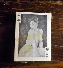 CA. 50'S-60'S MINIATURE DECK OF NUDE MODEL PLAYING CARDS COMPLETE NEVER OPENED