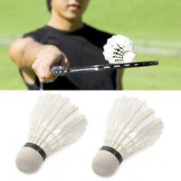 1/6/12Pcs Training Badminton Shuttlecocks Goose Feather Ball Sporting Sports Acc