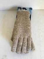 Isotoner Womens smartdri textured knit gloves - camal one size