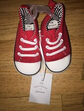 Baby Boys John Lewis Shoes 12-18 Months Red Trainers New