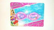 Disney Princess Swim Goggles Pink/Purple Cinderella & Belle Pictures Age 4+